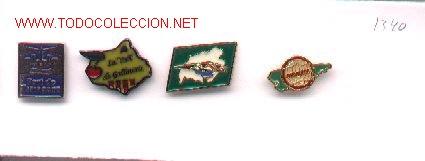 13-1340. PINS TURISMO. 4 DIFERENTES (Coleccionismo - Pins)