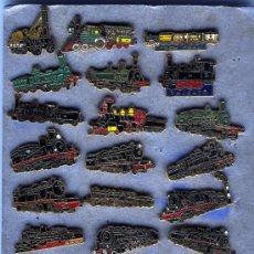 Pins de colección: 24 - PINS COLECCION EDITADA POR AMIGOS FERROCARRILES DE TARRAGONA EN EL AÑO 1980. Lote 26058427