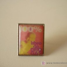Pins de colección: PIN 100% LIBRE DE DROGAS. Lote 9156699