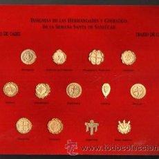 Pins de colección: INSIGNIAS DE LAS HERMANDADES Y COFRADIAS DE LA SEMANA SANTA DE SANLUCAR. Lote 103914999