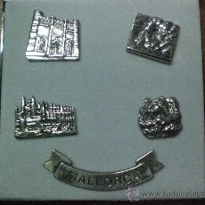 Pins de colección: COLECCION DE 5 PINS DE MONUMENTOS DE MALLORCA. Lote 25464473