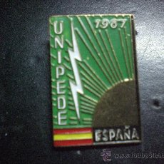 Pins de colección: PIN RARO UNIPEDE ESPAÑA DE AGUJA AÑO 1967. Lote 26961041