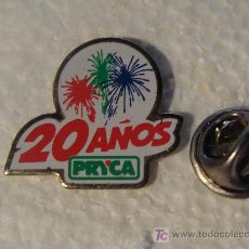 Pins de colección: PIN DE SUPERMERCADOS. 20 AÑOS DE PRYCA. CARREFOUR. AÑOS 90. . Lote 16327126