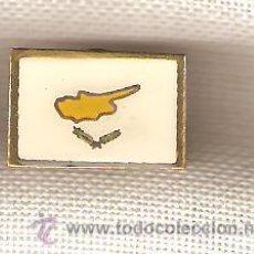 Pins de colección: LOTE 26 BANDERITAS TIPO PIN DE CHIPRE. Lote 21350907