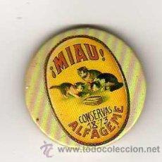 Pins de colección: INSIGNIA METALICA DE CONSERVAS MIAU - ALFAGEME ( VIGO ) - ANTIGUA . Lote 17095031