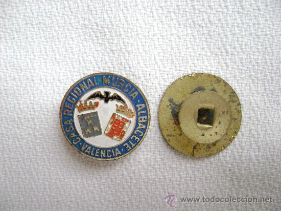 INSIGNIA CASA REGIONAL MURCIA ALBACETE EN VALENCIA.PIN055 (Coleccionismo - Pins)