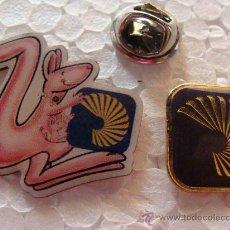 Pins de colección: 2 PINS DE BANCOS / CAJAS DE AHORRO. BANCO CENTRAL HISPANO. CANGURO LOGO. . Lote 21689335
