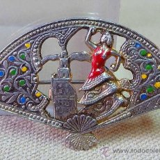 Pins de colección: PIN O PRENDEDOR O BROCHE METALICO, SEVILLA, ABANICO, SEVILLANA, 5 X 2 CM, METAL. Lote 28626865