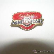 Pins de colección: ANTIGUA INSIGNIA.......CLUB MINI CARS. Lote 29280758