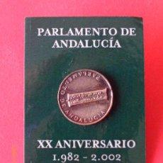 Pins de colección: PIN XX ANIVERSARIO PARLAMENTO DE ANDALUCIA. Lote 30164993