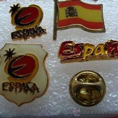 Pins de colección: 4 PINS DE TURISMO. ESPAÑA. BANDERA, ESCUDO TURÍSTICO. PIN. . Lote 30680559