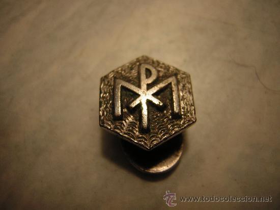 PIN INSIGNIA DE SOLAPA MP PAPAL HEXAGONAL (Coleccionismo - Pins)
