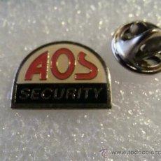 Pins de colección: PIN DE SEGURIDAD PRIVADA. AOS SECURITY. VIGILANCIA. VIGILANTES. . Lote 30859800