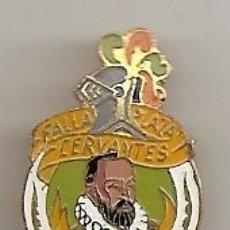 Pins de colección: FALLAS DE VALENCIA. SUECA: ANTIGUA INSIGNIA ESMALTADA DE LA FALLA CERVANTES. Lote 130082644