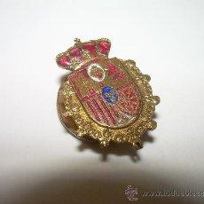 Pins de colección: ANTIGUA INSIGNIA ESMALTADA......CON EL ESCUDO DE ESPAÑA Y UN SAGRADO CORAZON.. Lote 31519010