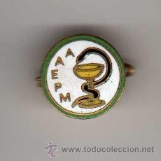 Pins de colección: INSIGNIA ESMALTADA AAEPM. Lote 32475585
