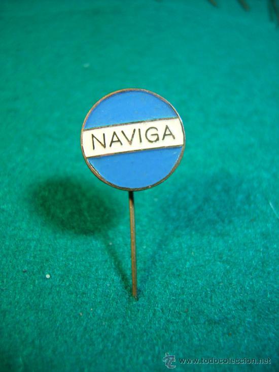 ESCUDO DE SOLAPA AGUJA-PINS- NAVIGA (Coleccionismo - Pins)