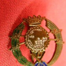 Pins de colección: INSIGNIA PIN DE AGUJA ORBE CORONADO CARVAYOS RADIO AFICIONADOS 1,5 X 1,5. Lote 32658484