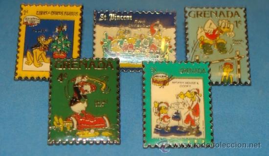 5 Pins De Dibujos Animados Sellos Walt Disney Comprar Pins