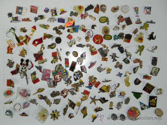 LOTE DE MAS DE 150 PINS ANTIGUOS, PIN, TODOS LOS QUE SE VEN EN LAS FOTOGRAFIAS PUESTAS, PUBLICIDAD, (Coleccionismo - Pins)