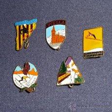 Pins de colección: LOTE DE ANTIGUAS INSIGNIA DE ESQUI DE GUADARRAMA, SIERRA NEVADA, PIRINEO CATALAN... SKI. Lote 36340198