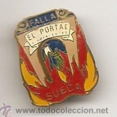 Pins de colección: FALLAS DE VALENCIA. INSIGNIA ESMALTADA ANTIGUA DE FALLA DE SUECA. Lote 36387562