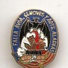 Pins de coleção: FALLAS DE VALENCIA. INSIGNIA ESMALTADA ANTIGUA DE FALLA DE ALACUAS. Lote 36387711