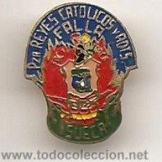 Pins de colección: FALLAS DE VALENCIA. INSIGNIA ESMALTADA ANTIGUA DE FALLA DE SUECA. Lote 36387838