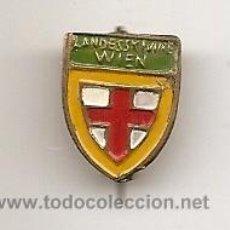 Pins de colección: INSIGNIA ESMALTADA ANTIGUA. LANDESKUNDE WIEN. VIENA (AUSTRIA). Lote 36838251