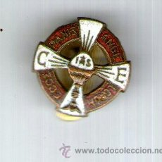 Pins de colección: PIN ESMALTAJO, JHS, J H S , PANIS ANGE LORUM ECCE, RELIGION CUSTODIA CORPUS CRISTI. Lote 37072909