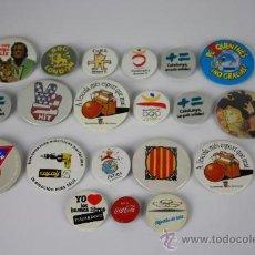 Pins de colección: PIN069 LOTE DE 20 PINS DE CHAPA VARIOS TEMAS AÑOS 70/80.. Lote 37649923