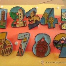 Pins de colección: LOTE DE 9 PINS PIN DE NUMEROS NUMERO 1 2 3 4 5 6 7 8 9. Lote 137771173