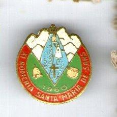 Pins de colección: ANTIGUO PIN XI ROMERIA SANTA MARIA DE SANS 1960. Lote 38657617