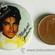 Pins de colección: CHAPA CON IMPERDIBLE DE MICHAEL JACKSON - CANTANTE EEUU MÚSICA POP 80 90 - CHAPITA - NO ES PIN. Lote 38744608