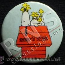 Pins de colección: CHAPITA DE SNOOPY EN CASETA ¿ AÑOS 80 ? CHAPA PEQUEÑA CON IMPERDIBLE -NO PIN - HUMOR SNOPI SNUPY. Lote 38955963