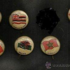 Pins de colección: 7 PINS ANTIGUOS AÑO 1917, PIN BANDERA EL CONGO, EGIPTO, MARRUECOS, TUNEZ, LETONIA, GALES... . Lote 103864798
