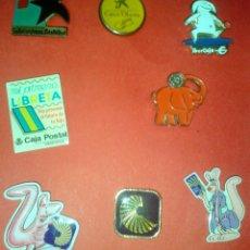 Pins de colección: LOTE 8 PINS BANCOS ANTIGUOS O DESAPARECIDOS. Lote 39793333