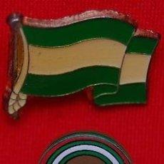 Pins de colección: PINS BANDERA ANDALUCIA + ESCUDO ANDALUCIA. Lote 40575822