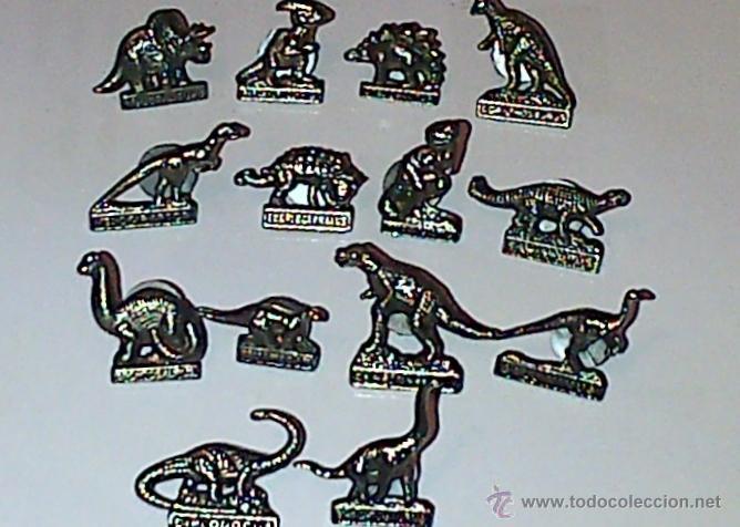 Pins de colección: 14 PINS METÁLICOS DE DINOSAURIOS, CADA UNO CON SU NOMBRE. - Foto 2 - 40707734