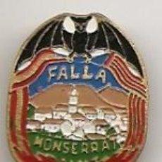 Pins de colección: FALLAS DE VALENCIA: INSIGNIA ESMALTADA ANTIGUA DE FALLA DE MONSERRAT. Lote 40753820