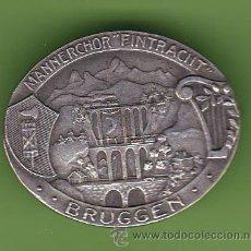 Pins de colección: INSIGNIA. MANNERCHOR FITRACHT, BRUGGEN, BRUGGE, BELGICA. FABR. PAUL KRAMER, NEUCHATEL, SIN FECHA.. Lote 40985858