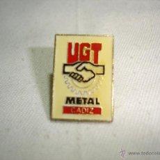 Pins de colección: PIN UGT - CADIZ METAL. Lote 41143857
