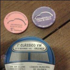 Pins de colección: LOTE 3 PINS CONCENTRACION VOLKSWAGEN ESCARABAJOS -ESCARAVELLO CLUB DE GALICIA Y CLUB DE PORTUGAL. Lote 38882715