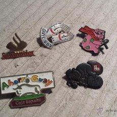 Pins de colección: LOTE DE 5 PINS VARIADOS BANCOS O CAJAS DE AHORROS. Lote 41579234