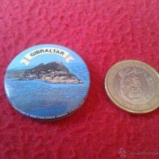 Pins de colección: BONITA CHAPA CHAPITA (NO PIN) GIBRALTAR AÑOS 80 90 MUY BONITA. GRAN BRETAÑA. Lote 42110768