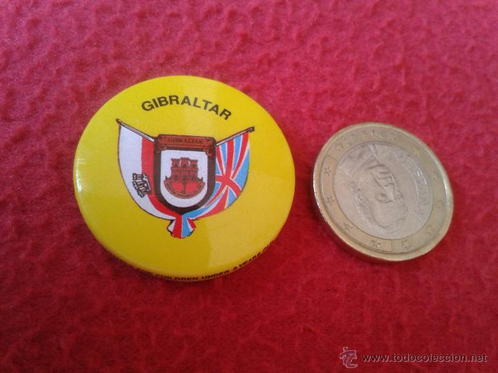 BONITA CHAPA CHAPITA (NO PIN) GIBRALTAR AÑOS 80 90 MUY BONITA. GRAN BRETAÑA (Coleccionismo - Pins)