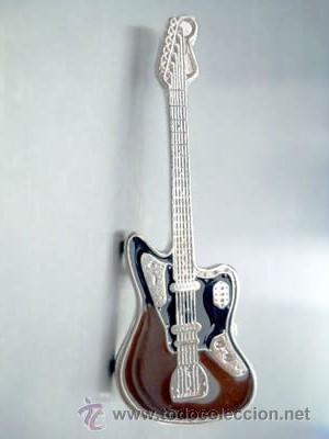 pin guitarra fender jaguar - comprar pins antiguos y de colección en