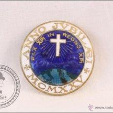 Pins de colección: ANTIGUA INSIGNIA DE AGUJA - ANNO JUBILAEI MCMXXV - 1925 G BREGONZIO MILANO VIA BRIOSCHI - 27 MM DIÁM. Lote 42785830