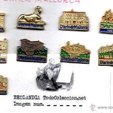 Pins de colección: 7 PINS MONUMENTOS TURISTICOS DE PALMA. DIARIO DE MALLORCA. ISLAS BALEARES ILLES BALEARS PIN 2S. Lote 42964378