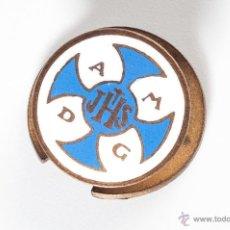 Pins de colección: INSIGNIA DE METAL DE A M D G JHS. Lote 43392928